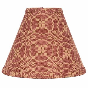 "Marshfield Jacquard Lampshade 10"" Regular Clip Barn Red"