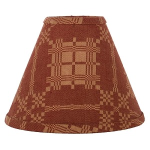 "Smithfield Jacquard Lampshade 10"" Regular Clip Barn Red-Nutmeg"
