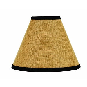 "Burlap Stripe Lampshade 10"" Regular Clip"