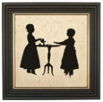 Sisters Tea Party Silhouette