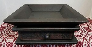 12 x 12 Tray with Drawer Black