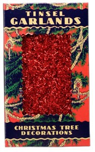 Antique Tinsel Garland - Red