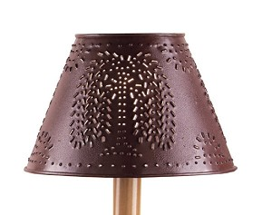 "METAL WILLOW SHADE 12"" Red"