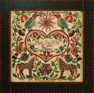 LIVE THE LIFE OF YOUR DREAMS FRAKTUR