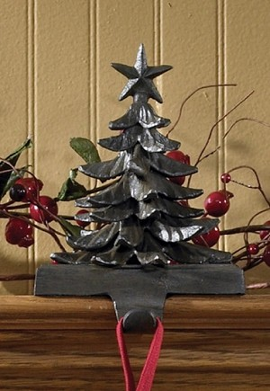 Christmas Tree Stocking Hanger - Iron Finish