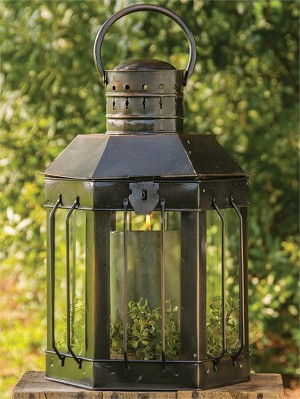 Six Sided Lantern - Antique Copper