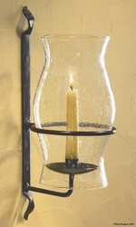 WROUGHT IRON HURRICANE WALL SCONCE