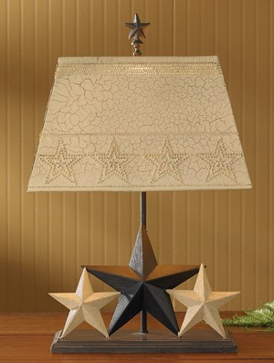 Three Star Lamp With Shade