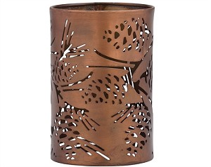 Copper Pinecone Candle Sleeve