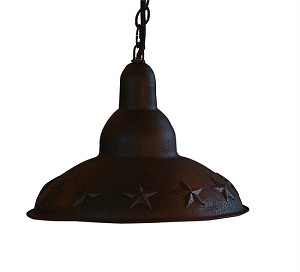 Embossed Star Pendant Light