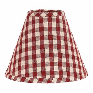 "Heritage House Check Lampshade 12"" Regular Clip"