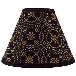 "Lover's Knot Jacquard Lampshade 12"" Regular Clip"