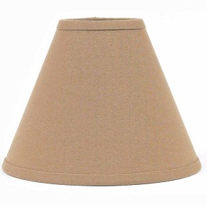 "Farmhouse Solid Lampshade Nutmeg 12"" Regular Clip"
