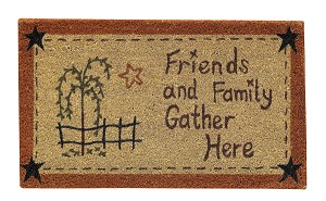 Friends And Family Gather Doormat