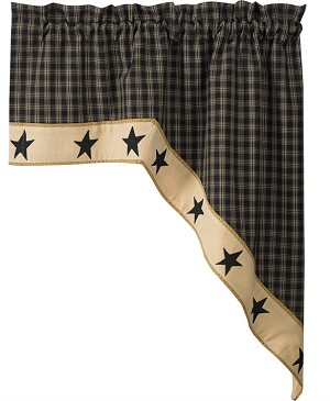"Sturbridge Star Lined Swag - 36""L - Black"