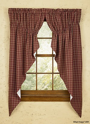 "Sturbridge Lined Gathered Swag - 63""L - Wine"