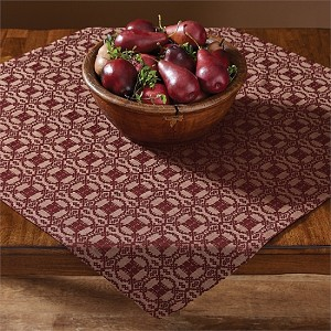 Campbell Coverlet Table Square - Wine