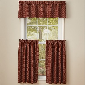 Campbell Lined Valance - Wine