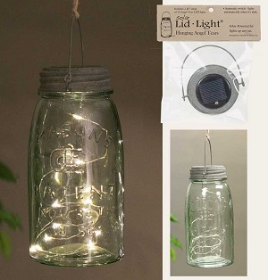 Hanging Solar Lid Light – Barn Roof - Angel Tears