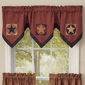 "Montclair Lined Triple Point Valance - 20""L - Plaid"