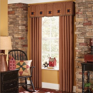 "Montclair Lined Patch Valance - 14""L - Check"