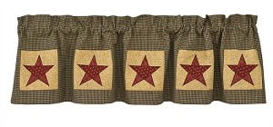 Country Star Lined Patch Valance