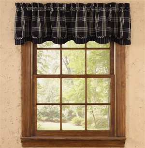 Black Coffee Lined Layered Valance