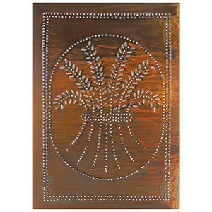 "Wheat Design Cabinet Panel 10""x14"" Rustic Tin"