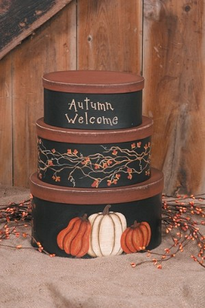 Nesting Boxes - Autumn Welcome - Pumpkin Vine