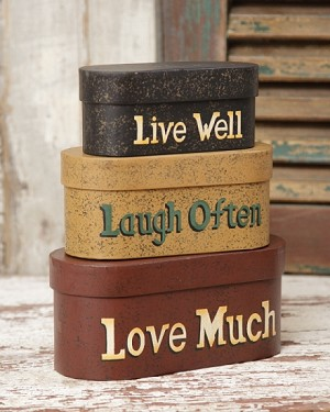 Live Laugh Love - Nesting Boxes Small