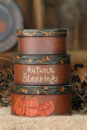 Autumn Blessings - Pumpkin Nesting Boxes