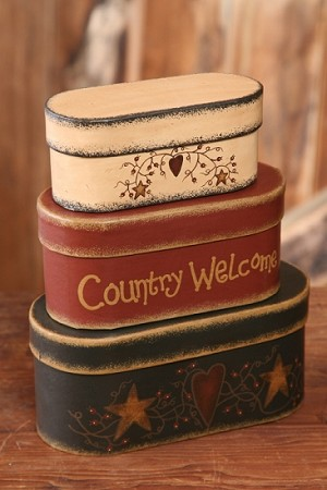 Nesting Boxes - Country Welcome
