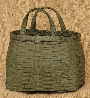Two Handled Basket - Sage