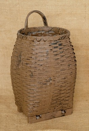 Drum Basket With Feet - Tan