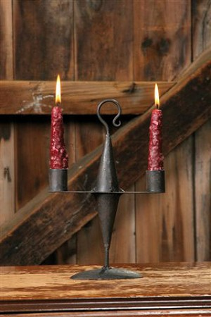 WROUGHT IRON CANDLE HOLDER - DOUBLE TAPERED