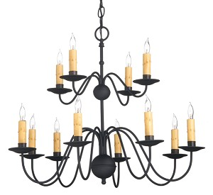 Sprucemont Wrought Iron Chandelier