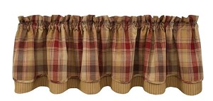 "Hearthside Lined Layered Valance - 16""L"