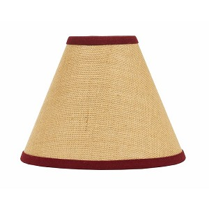 "Burlap Stripe Lampshade 14"" Washer"