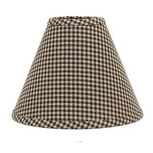 "Newbury Gingham Lampshade Black 14"" Washer"