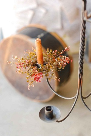 Baby Grass Candle Ring | Red | 4""
