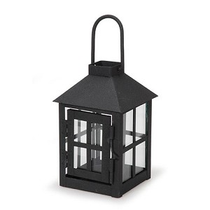 Lantern - Metal - Black - 3 x 3 x 5.5 inches