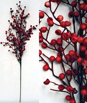 24in Red Snowberry Bouquet