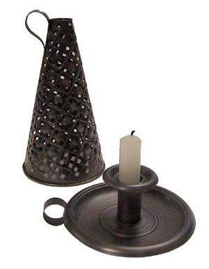"7"" CANDLE HOLDER AND SHADE"