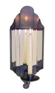"17"" CANDLE HOLDER SCONCE WITH MIRRORS"