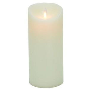 Mystique Ivory Smooth 7 Inch Pillar Flameless Candle