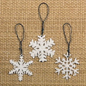 Mini Snowflake Ornaments Set/6
