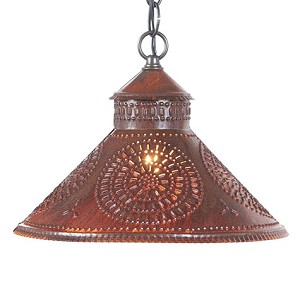 Stockbridge Shade Pendant Light Rustic Tin