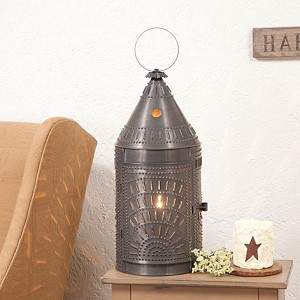 "27"" Blacksmith's Lantern with Chisel in Blackened Tin"