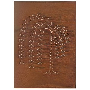 Vertical Willow Panel Rustic Tin