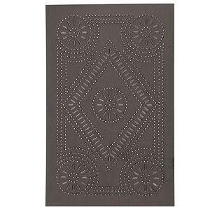 "Extended Diamond Panel 10 1/2""x 16 1/2"" Blackened Tin"